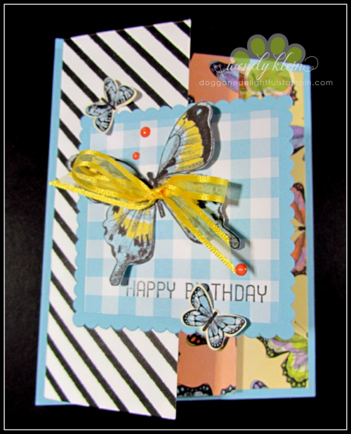 Botanical Butterfly DSP  Butterfly Duet Punch  DSP Showcase Z-Fold card - 11
