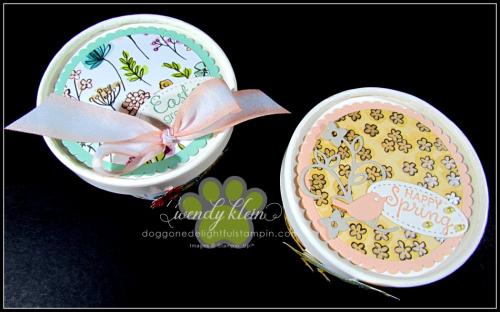 Easter Sweet Treat Cup  Share What You Love Spec DSP  Stampin Blends  Layering Circle Framelits  Artisan Pearls - 2
