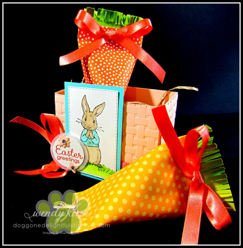 Fable Friends  Petite Treats Framelits  Basket Weave DTIEF  Easter Basket - 1