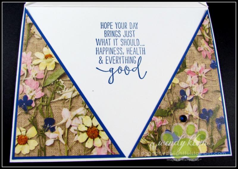 Daisy Lane Birthday Card  Arrow Fold  Pressed Petals SDSP - 4