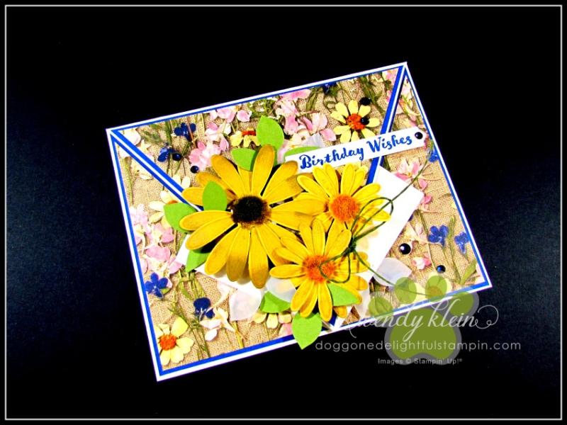 Daisy Lane Birthday Card  Arrow Fold  Pressed Petals SDSP - 1