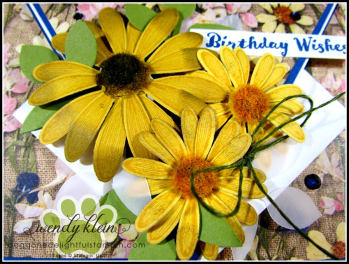 Daisy Lane Birthday Card  Arrow Fold  Pressed Petals SDSP - 6