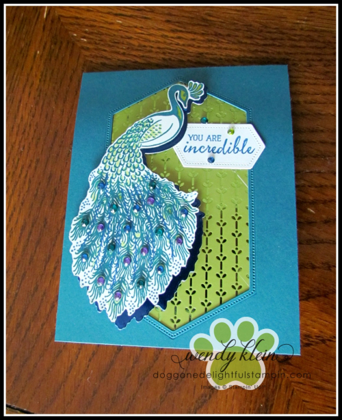 Royal Peacock  Detailed Peacock Dies  Stitched Nested Labels Dies  Noble Peacock Foil  Specialty DSP  & Rhinestones - 5