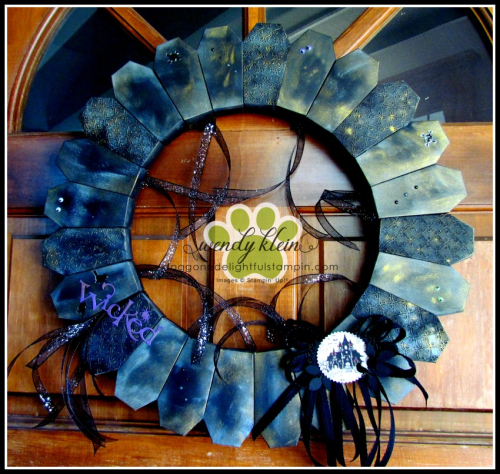 Vintage Coffin Box Wreath - 6
