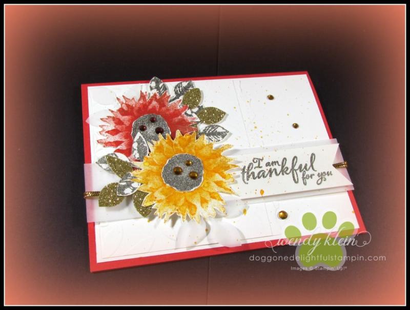 Painted Harvest Sunflowers - 1