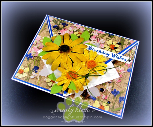 Daisy Lane Birthday Card  Arrow Fold  Pressed Petals SDSP - 5