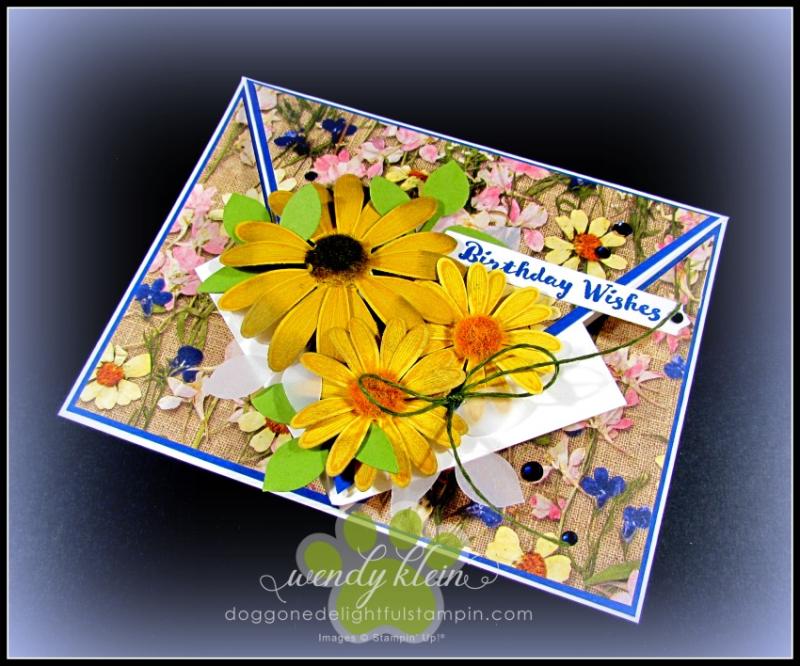 Daisy Lane Birthday Card  Arrow Fold  Pressed Petals SDSP - 5