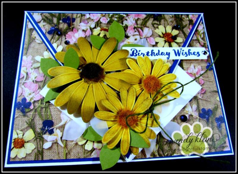 Daisy Lane Birthday Card  Arrow Fold  Pressed Petals SDSP - 2