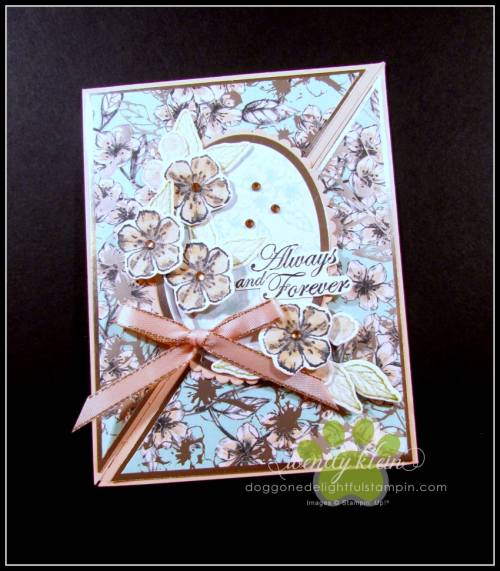 Forever Blossoms Diagonal Fold Card - 1