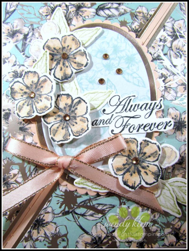 Forever Blossoms Diagonal Fold Card - 3