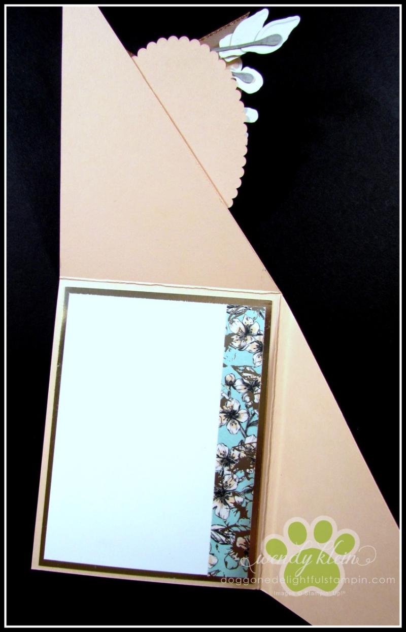 Forever Blossoms Diagonal Fold Card - 4