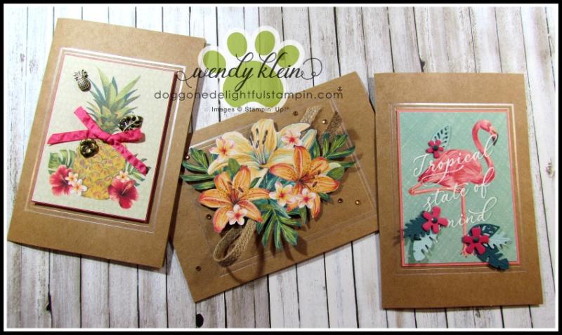 Tropical Oasis Memories & More Cards - 1
