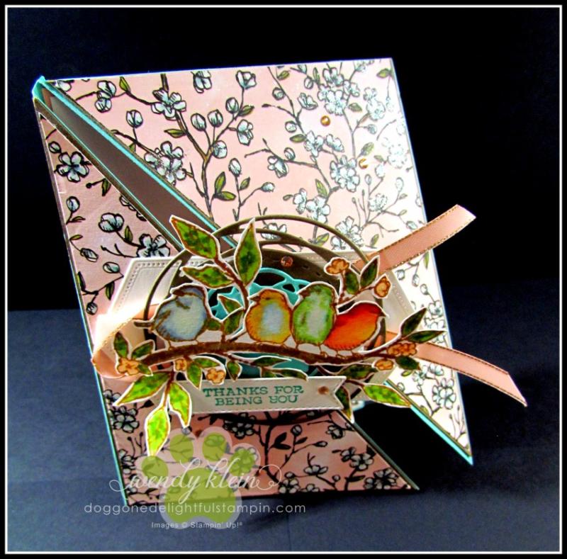 Free As a Bird Diagonal Fold Card - 1