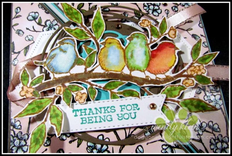 Free As a Bird Diagonal Fold Card - 4