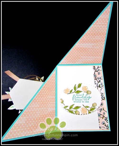 Free As a Bird Diagonal Fold Card - 5