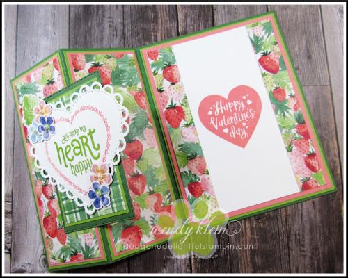Berry Delightful Z-Fold Valentine - 2
