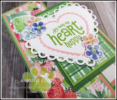 Berry Delightful Z-Fold Valentine - 3