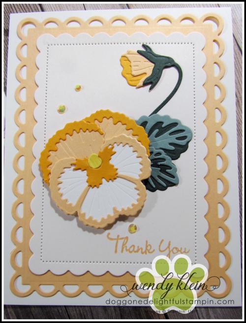 Pansy Dies Card - 2