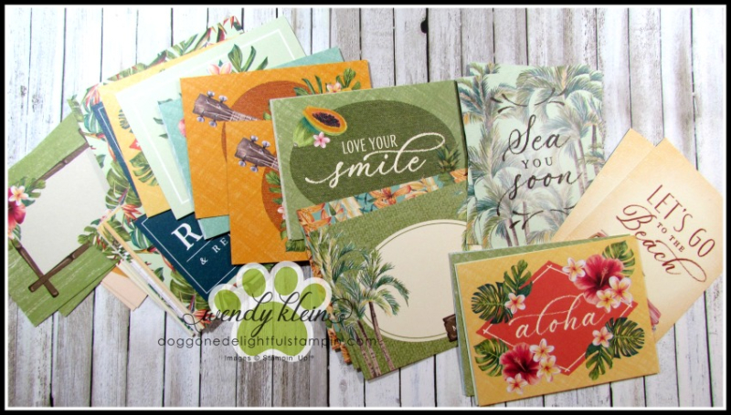 Tropical Oasis Memories & More Cards - 9