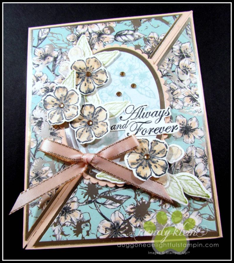 Forever Blossoms Diagonal Fold Card - 2