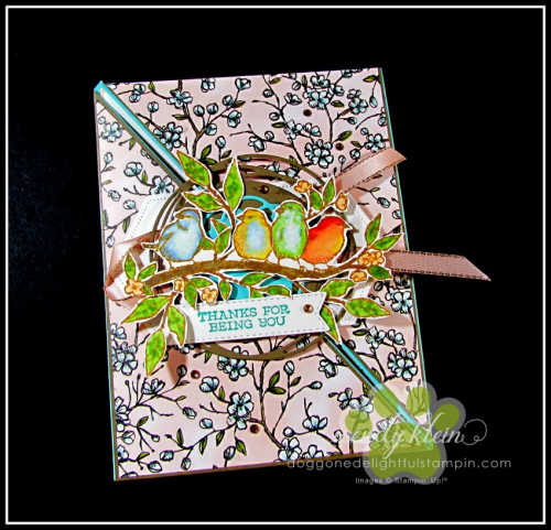Free As a Bird Diagonal Fold Card - 2