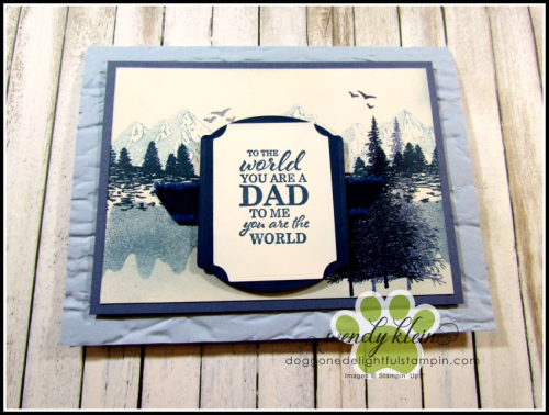 Mountain Air Father's Day card - 2