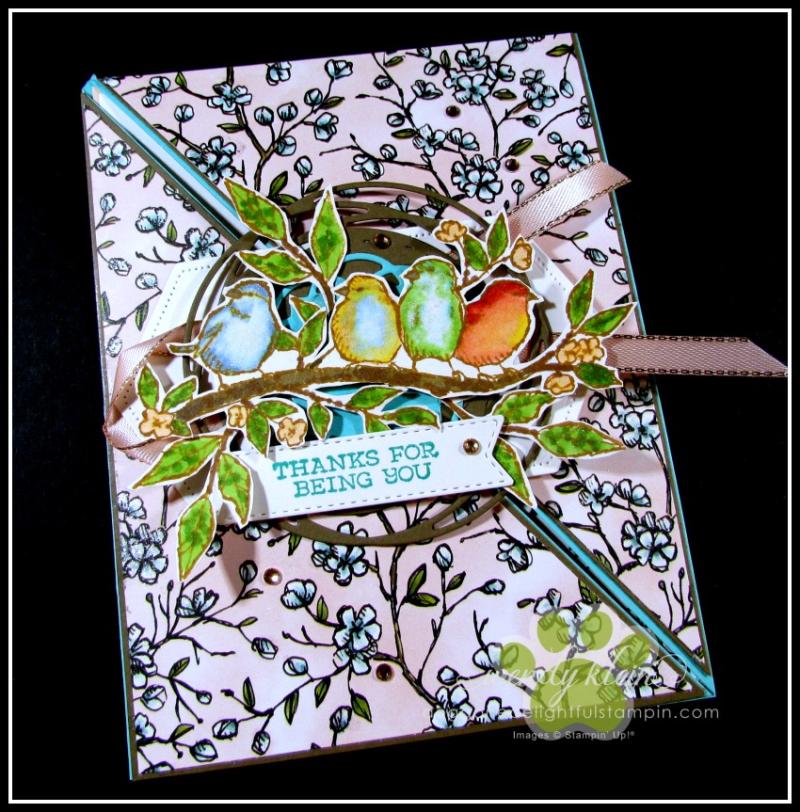 Free As a Bird Diagonal Fold Card - 3