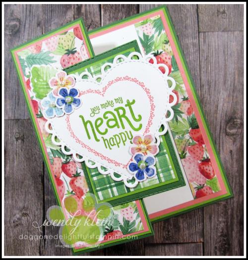 Berry Delightful Z-Fold Valentine - 1