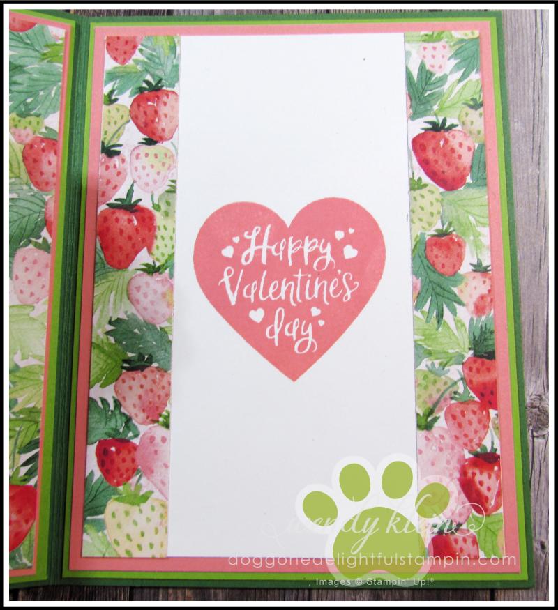 Berry Delightful Z-Fold Valentine - 5