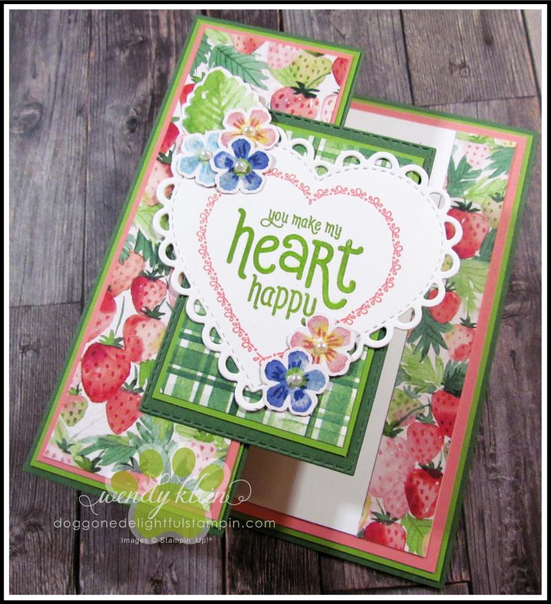 Berry Delightful Z-Fold Valentine - 6